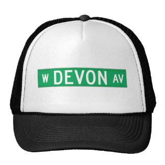 Avenida de Devon, placa de calle de Chicago, IL Gorros