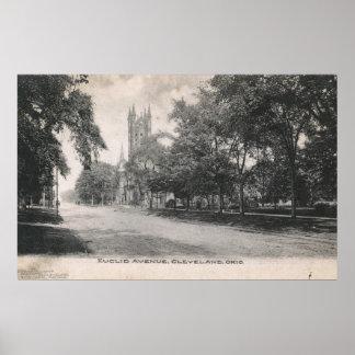Avenida de Euclid., vintage 1906 de Cleveland, Póster