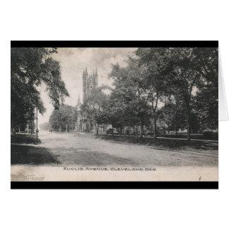 Avenida de Euclid., vintage 1906 de Cleveland, Tarjeta De Felicitación