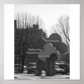 AVENIDA DE FLATBUSH - BROOKLYN, NY PÓSTER