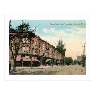 Avenida de Flatbush., vintage de Brooklyn, Nueva Tarjeta Postal