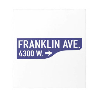 Avenida de Franklin, Los Ángeles, placa de calle Blocs De Notas