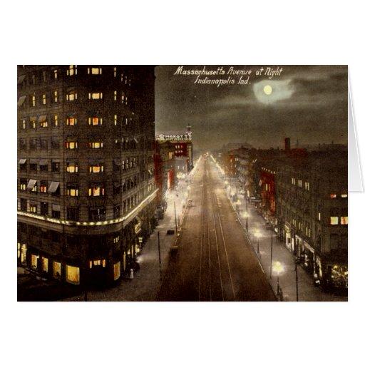 Avenida de Indianapolis Indiana Massachusetts en Tarjeta De Felicitación