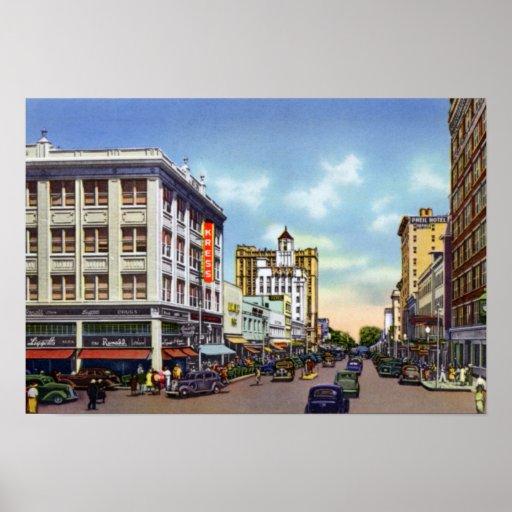Avenida de la central de St Petersburg la Florida Impresiones