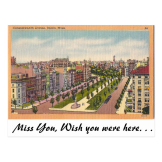 Avenida de la Commonwealth., Boston, Massachusetts Postales