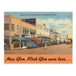 Avenida de la Florida, Fort Lauderdale, Andrews Tarjeta Postal