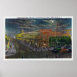Avenida de la resaca del parque de la carrera de o póster