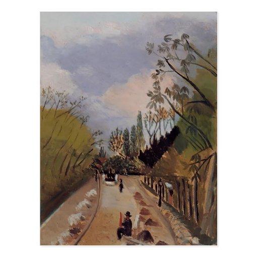 Avenida de l'Observatoire de Enrique Rousseau- Tarjeta Postal