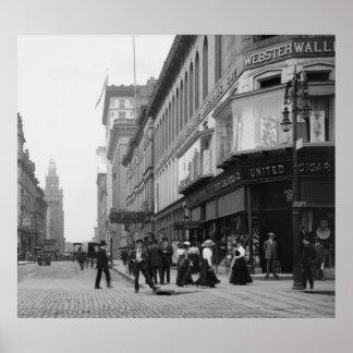 Avenida de Madison de St de la cumbre, 1900s tempr Poster