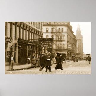 Avenida de Madison de St de la cumbre, 1900s tempr Impresiones