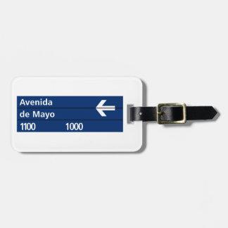 Avenida de Mayo, Buenos Aires Street Sign Bag Tag