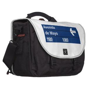 Avenida de Mayo, Buenos Aires Street Sign Bag For Laptop