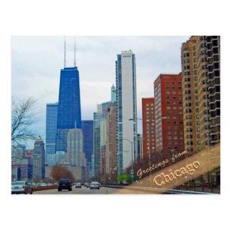 Avenida de Michigan de Chicago Tarjeta Postal