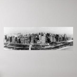 Avenida de Michigan en Chicago (1911) Póster