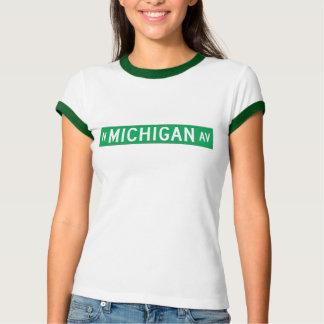 Avenida de Michigan, placa de calle de Chicago, IL Camisas
