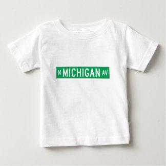 Avenida de Michigan, placa de calle de Chicago, IL Playeras