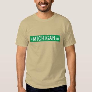 Avenida de Michigan, placa de calle de Chicago, IL Poleras