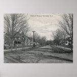 Avenida de Midland., Montclair, vintage 1908 de NJ Poster