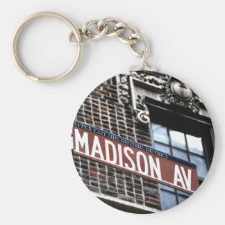 Avenida de NYC Madison Llavero Redondo Tipo Pin
