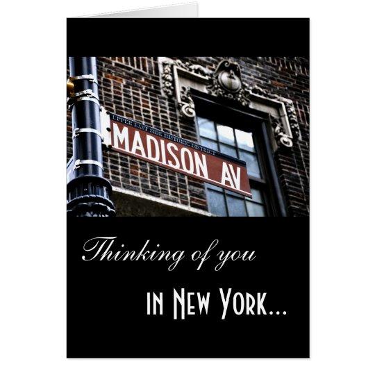 Avenida de NYC Madison Tarjeta De Felicitación