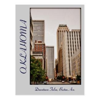 Avenida de Oklahoma, Tulsa céntrico, Boston, Tarjeta Postal