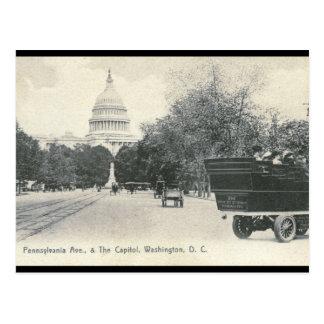 Avenida de Pennsylvania., vintage 1906 del Washing Tarjeta Postal