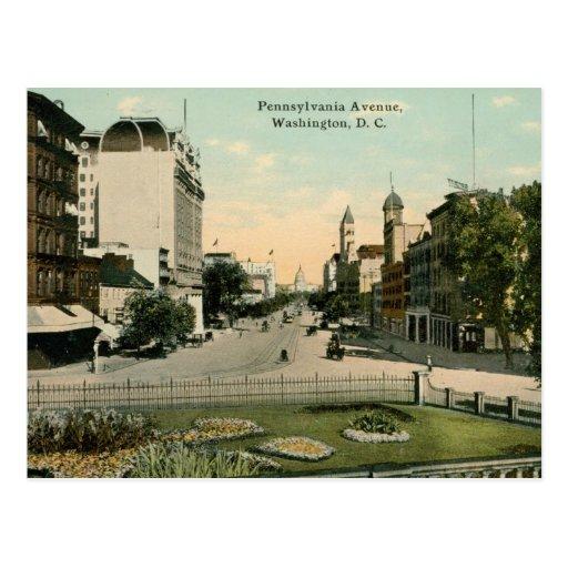 Avenida de Pennsylvania., vintage 1912 del Tarjetas Postales