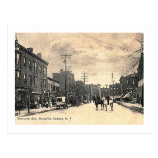 Avenida de Roseville, vintage 1907 de Newark NJ Tarjetas Postales