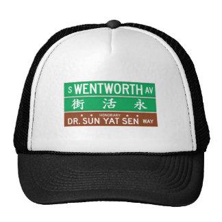 Avenida de Wentworth, placa de calle de Chicago, Gorra