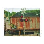 Avenida del ferrocarril lienzo envuelto para galerias