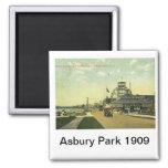 Avenida del lago, parque de Asbury, vintage 1909 d Imán Para Frigorifico