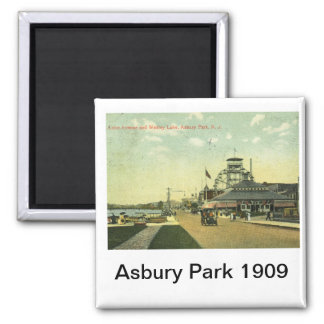 Avenida del lago parque de Asbury vintage 1909 d Imán Para Frigorifico