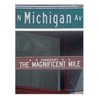 'Avenida del norte de Michigan y la milla Tarjetas Postales