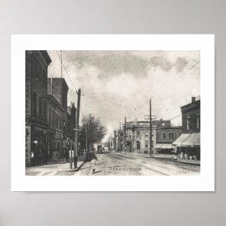 Avenida del parque., Rutherford, vintage de New Póster