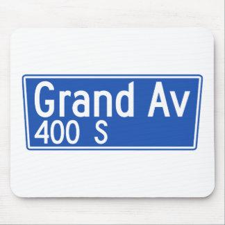 Avenida magnífica, Los Ángeles, placa de calle de Alfombrillas De Ratón