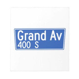 Avenida magnífica, Los Ángeles, placa de calle de Blocs De Notas