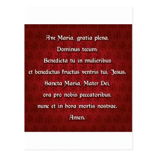Avenida Maria, saludo Maria en latín Tarjeta Postal