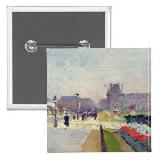 Avenida Paul Deroulede, Tuileries, París Pin Cuadrado
