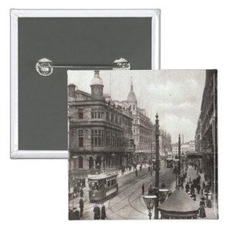 Avenida real, Belfast, c.1900 Pin Cuadrado