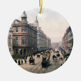 Avenida real Belfast Co. Antrim, Irlanda 1890 Adorno Redondo De Cerámica