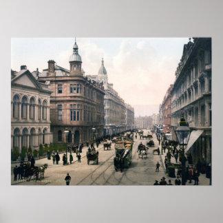 Avenida real Belfast Co. Antrim, Irlanda 1890 Posters