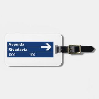 Avenida Rivadavia, Buenos Aires Street Sign Luggage Tags