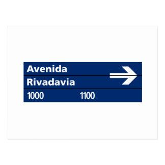 Avenida Rivadavia, placa de calle de Buenos Aires Postal
