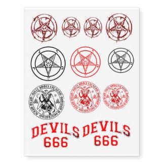 Avenida Satani Tatuajes Temporales