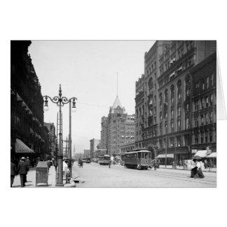 Avenida superior, Cleveland: 1905 Tarjeta De Felicitación