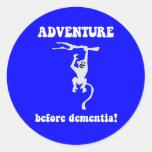 aventura antes de la demencia etiquetas redondas