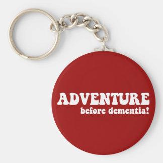 aventura antes de la demencia llavero redondo tipo pin