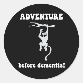 aventura antes de la demencia pegatinas redondas