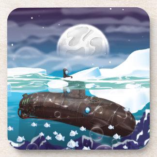 Aventura ártica submarina posavasos de bebidas