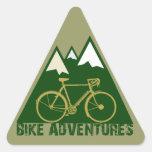aventura de ciclo - bicis calcomanías trianguladas personalizadas